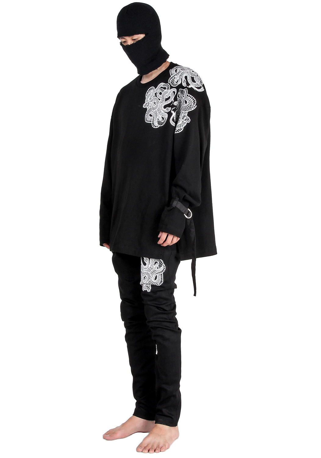 SNAKE SHOULDER TATTO LONG SLEEVE T-SHIRTS